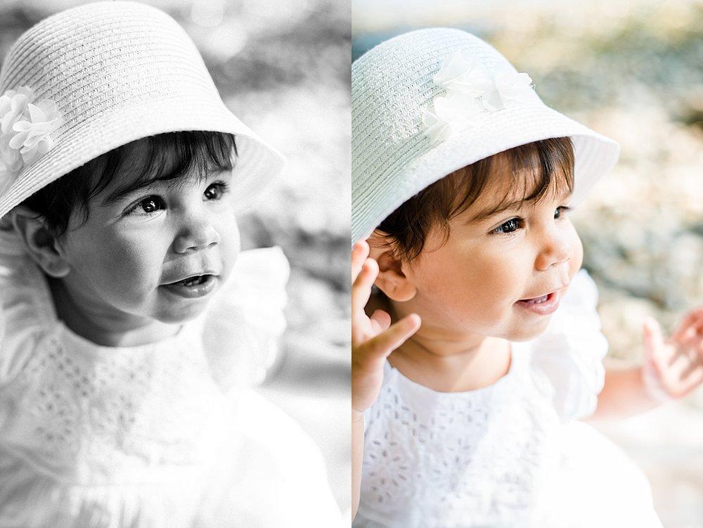 Mädchen mit weißem Hut